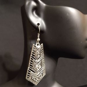 New Stylish Silver Large Hanging Earrings